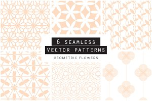 Geometric Floral Seamless Patterns