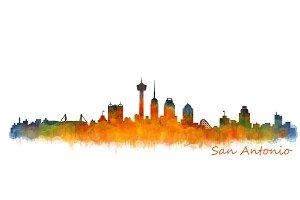 San Antonio Texas Cityscape Skyline