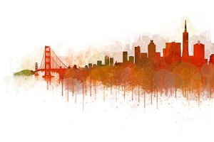 San Francisco Cityscape Skyline