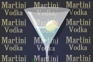 Cocktail martini with vodka