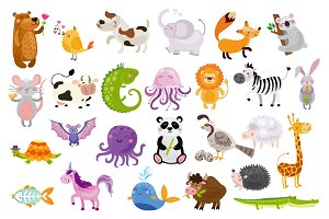 Cute animal alphabet for kids
