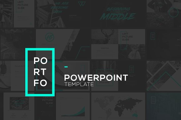 Portfo powerpoint template presentation templates for Steve jobs powerpoint template