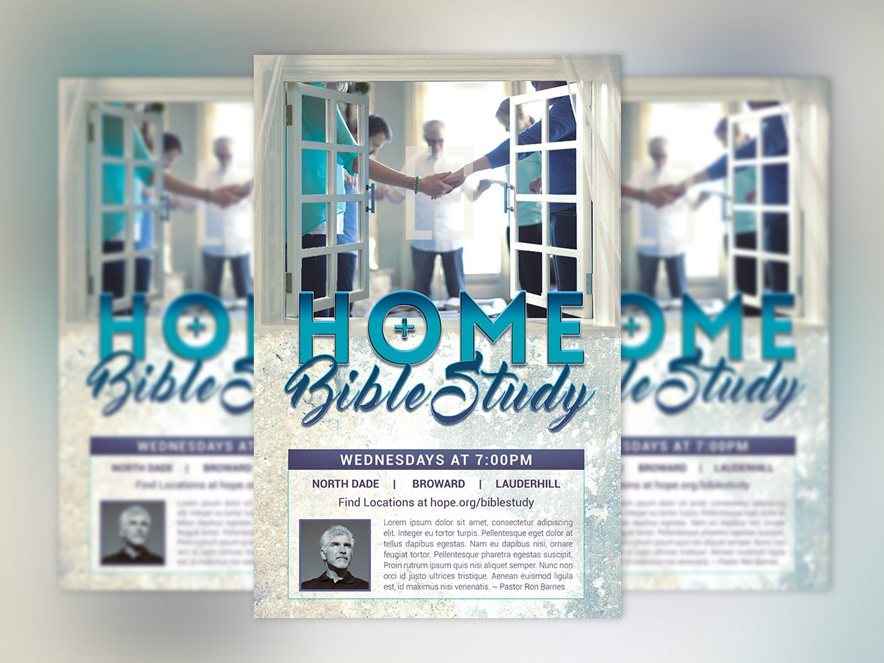 bible study flyer poster photoshop flyer templates creative market. Black Bedroom Furniture Sets. Home Design Ideas
