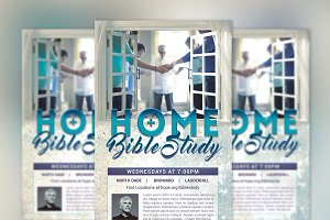 Bible Study Flyer Poster Photoshop