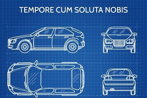 Car vector blueprint