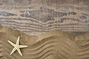 Stardish on sand