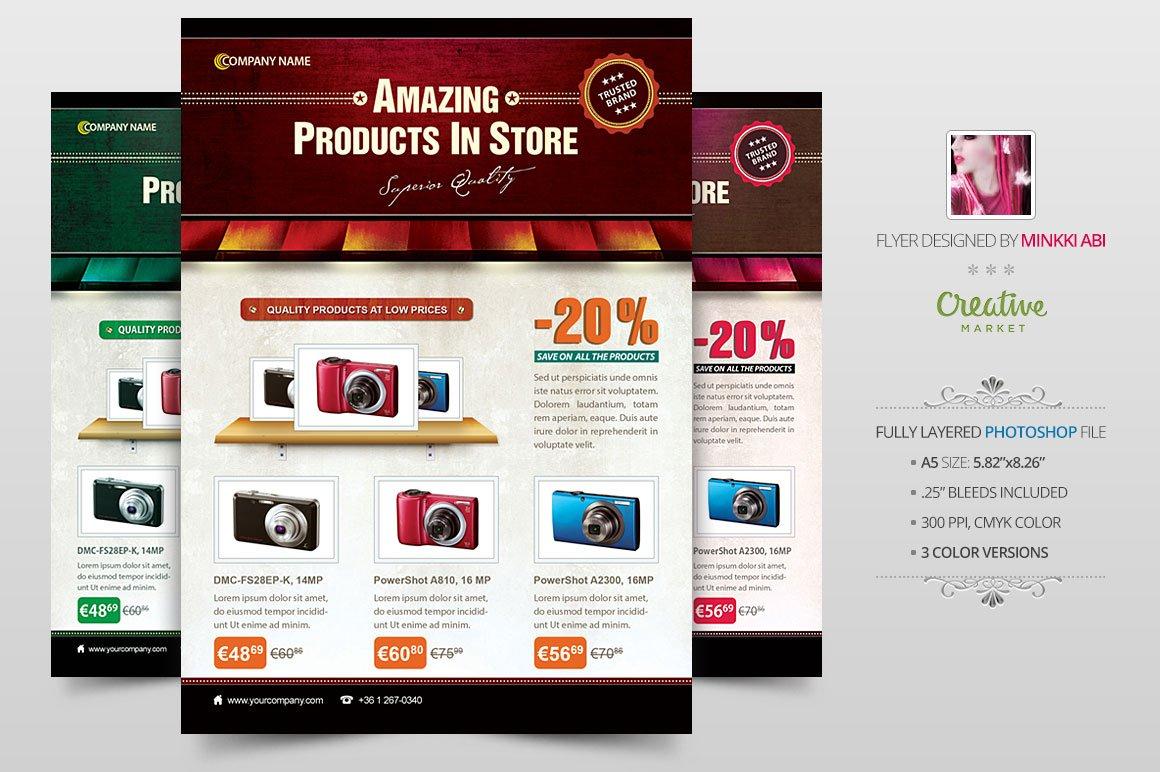 business product flyer poster flyer templates creative market. Black Bedroom Furniture Sets. Home Design Ideas