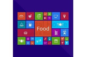 Food application window icon design