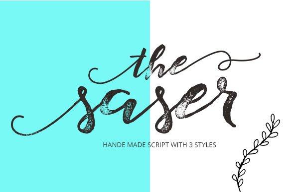 Saser Script Script Fonts Creative Market