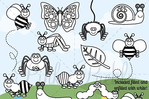 Bug Digital Stamps, Clipart & Vector
