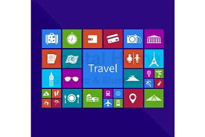Tourism application window icon