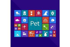 Pet application window icon design