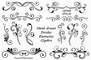 Hand Drawn Divider Elements