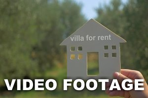 Advertising of villa for rent