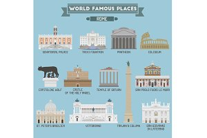World Famous Place. Italy. Rome