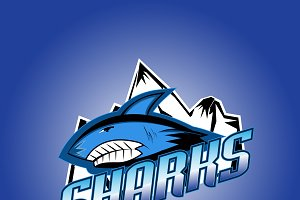 Sharks club professional logo