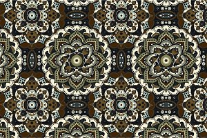 Set of Brown Ornamental Patterns