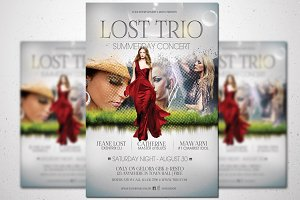 Lost Trio Flyer - Summer Vaganza