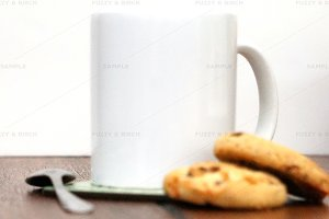 Milk and Cookies Mug Mockup
