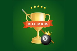 Winning Billiards. Vector
