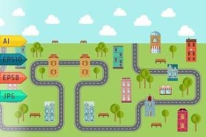 Vector urban landscape.