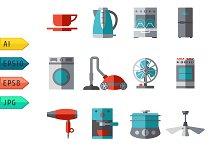 Domestic equipment Icons.