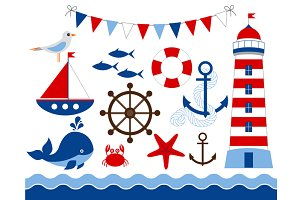 Digital Nautical Clip Art