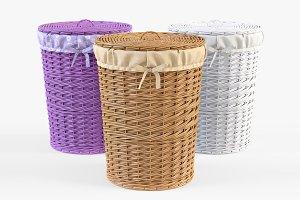 Wicker Laundry Basket 03 Set 3 Color