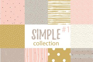 Collection simple hipster patterns