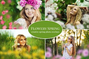 """Flowery Spring"" photo overlays set"