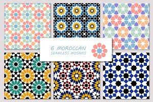 Moroccan seamless mosaics