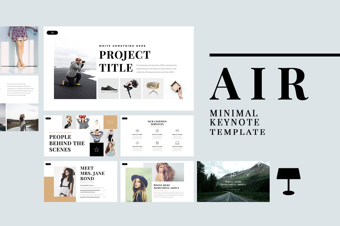 Air minimal keynote template presentation templates creative market toneelgroepblik Image collections