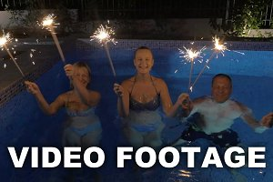 Celebration with sparklers