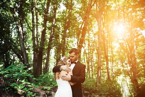 Beautiful wedding couple