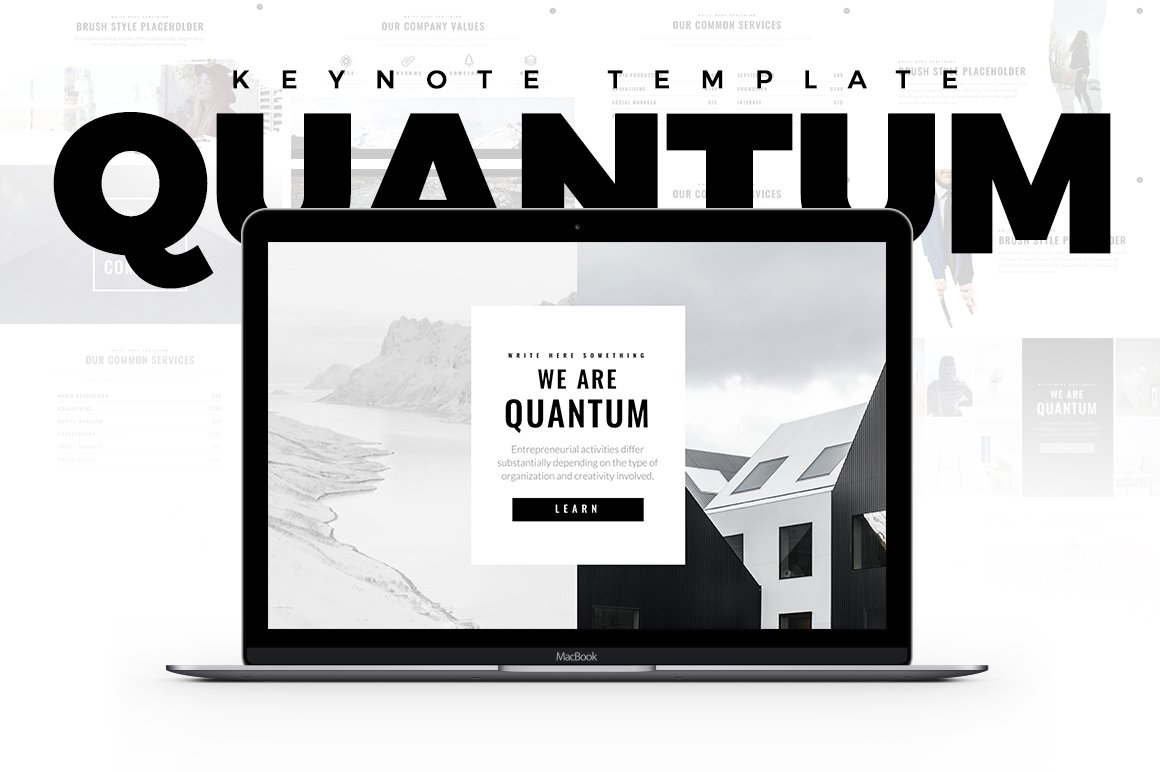 Quantum minimal keynote template presentation templates quantum minimal keynote template presentation templates creative market toneelgroepblik Gallery