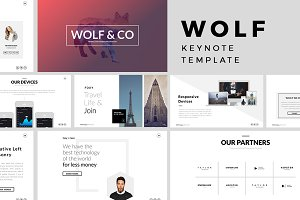 Wolf Minimal Keynote Template