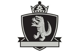Gator Standing Side Coat of Arms