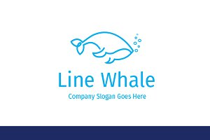 Line Whale Logo