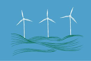 wind turbines, renewable energy