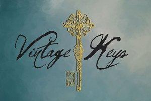 12 Vintage Key Icons