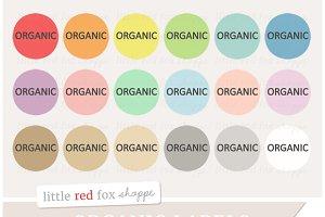 Organic Label Clipart