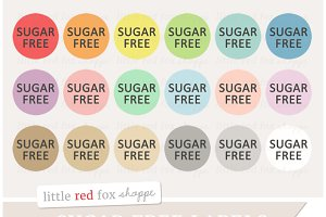 Sugar Free Label Clipart