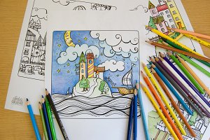 Charming Houses :: Coloring pages