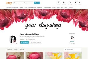 Floral etsy shop cover photo 1