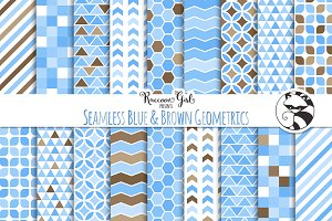 Seamless Blue & Brown Geometrics