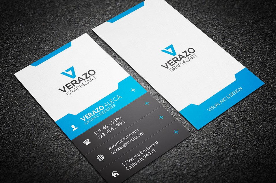 Vertical business card designs vertical creative polygon business card template cardzest friedricerecipe Gallery