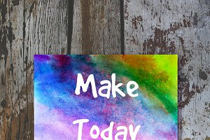 """Make Today Amazing"" decorative card"