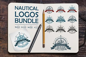 Nautical logos vector bundle