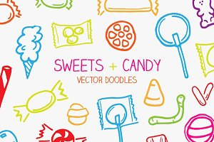 Vector Sweets & Candy Doodles