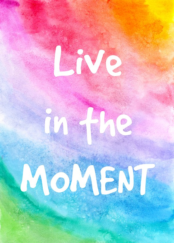 Live in the moment. Decorative card. - Illustrations